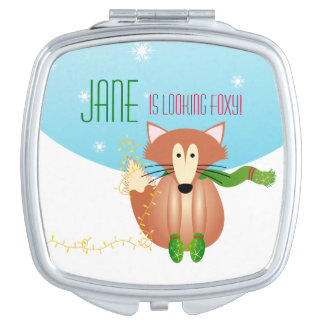 Fox in Mittens Compact Mirror