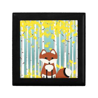 Fox in the Fall Birches Gift Box
