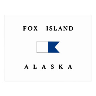 Fox Island Alaska Alpha Dive Flag Postcard
