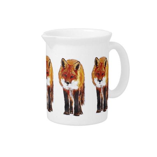 fox pitcher, fox jug, fox dining beverage pitcher