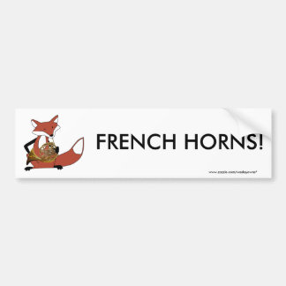 Fox Playing the French Horn Bumper Sticker
