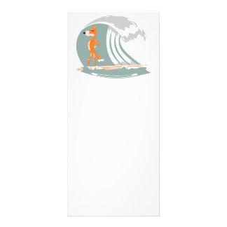 Fox Standing on a Surfboard Rack Card Design