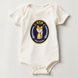 Fox Wreath Personalized Baby Boy Baby Bodysuit