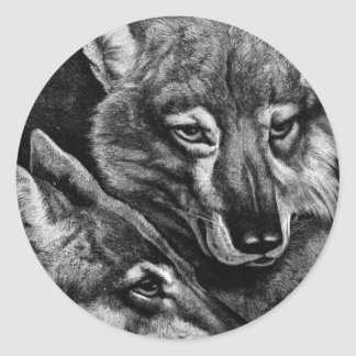 Foxes / Wolves / Coyotes ? Classic Round Sticker