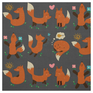 foxy fox fabric pattern