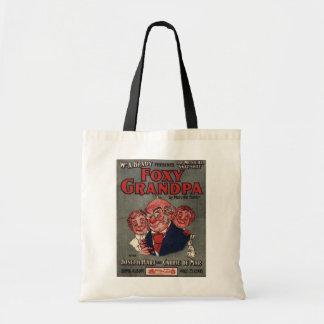 Foxy Grandpa budget tote Budget Tote Bag