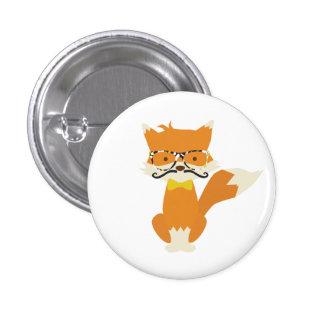Foxy Hipster 3 Cm Round Badge