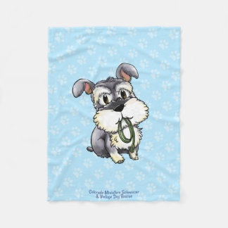 Fozi - Schnauzer Paws Custom Fleece Blanket 1