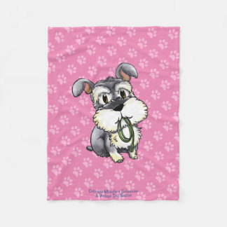 Fozi - Schnauzer Paws Custom Fleece Blanket 2