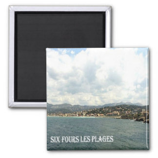 FR - France - French Riviera - Six-Fours-les-Plage Square Magnet