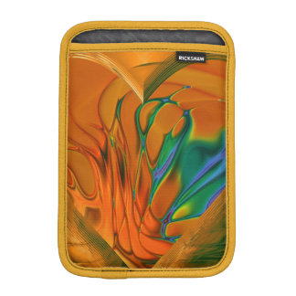 Fractal Art Saffron iPad Mini Vertical Sleeve