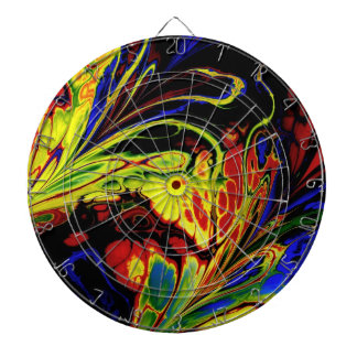 Fractal Art Wild-and-Crazy Design Dart Board