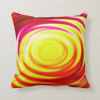 Fractal Bright Red Orange Pillow
