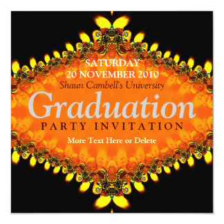 Fractal Flame Graduation Invitation