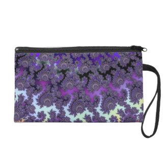 Fractal Floral Fantasy Fashion Evening Wrist Bag Wristlet