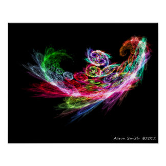 Fractal Phoenix Poster 16x20