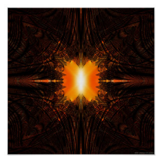 Fractal Projection 1.3l (polar sunset) Poster