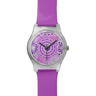 Fractal swirl pattern, violet, orchid watch