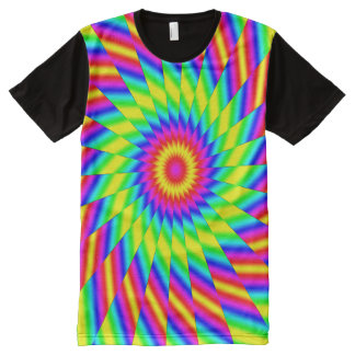 Fractal Tie Dye All-Over Print T-Shirt