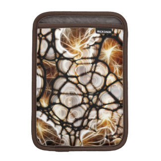 Fractal Web Brown iPad Mini Vertical Sleeve