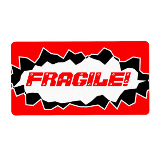 Fragile warning -  shipping stickers shipping label