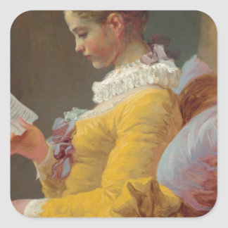 Fragonard's Young Girl Reading Square Sticker