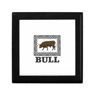framed brown bull gift box