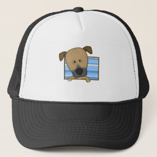 Framed Cartoon Rhodesian Ridgeback Trucker Hat