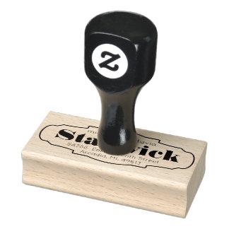 Framed Simple Custom Return Address Rubber Stamp