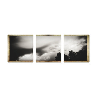 Framed Sky Panels Canvas Print