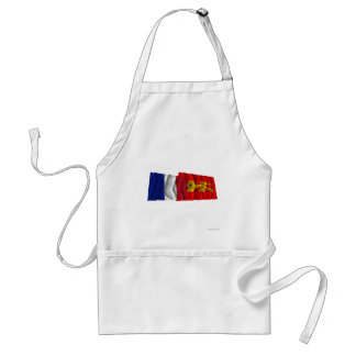 France & Aquitaine waving flags Standard Apron