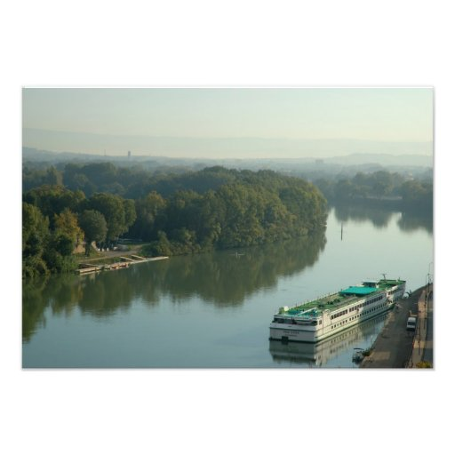 France, Avignon, Provence, Van Gogh riverboat Photo Print