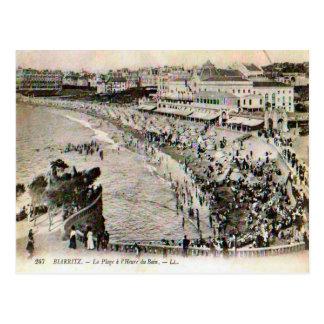 France, Biarritz, La plage Postcard