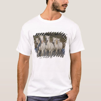 France, Camargue. Horses run through the 2 T-Shirt