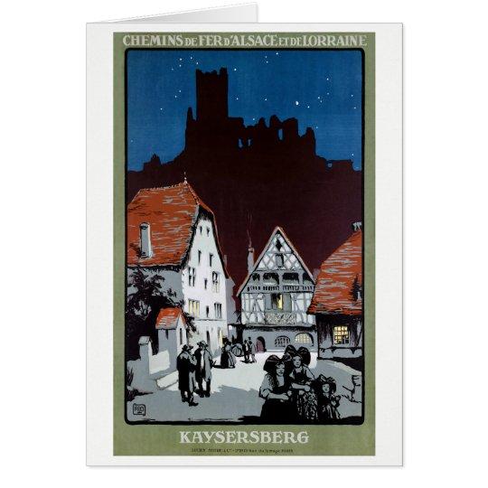 France Kaysersberg Restored Vintage Travel Poster Greeting Card