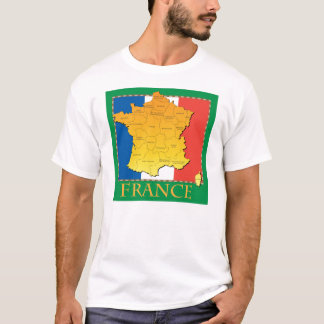 France Map T-Shirt