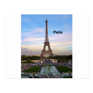 France Paris Eiffel Tower (by St.K) Postcard