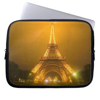 France, Paris. Eiffel Tower illuminated at 3 Laptop Sleeve