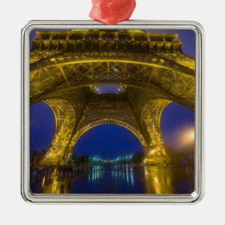 France, Paris. Eiffel Tower illuminated at Christmas Ornament
