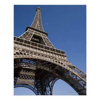 France, Paris, Eiffel Tower, low angle view Poster