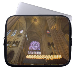 France, Paris. Interior of Notre Dame Cathedral. Laptop Sleeve