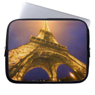 France, Paris. Looking up from base of Eiffel Laptop Sleeve