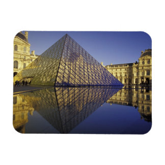 FRANCE, Paris Reflection, Pyramid. The Louvre Rectangular Photo Magnet