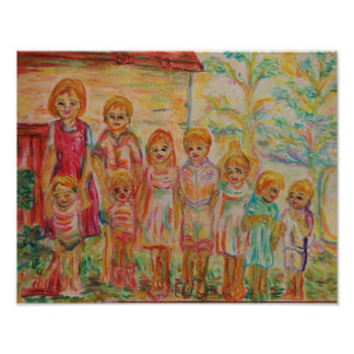 France - scenery of family - poster