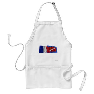 France & Val-d'Oise waving flags Standard Apron