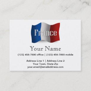 France tourist business cards zazzle nz france waving flag business card colourmoves