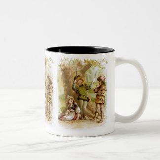 Frances Brundage: Celia, Rosalind, and Orlando Two-Tone Coffee Mug