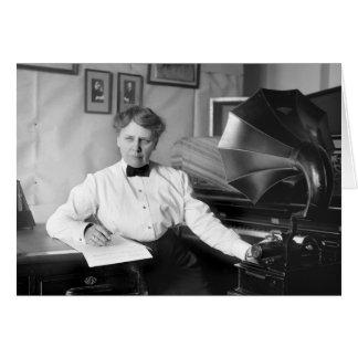 Frances Densmore at Work 1917 Greeting Cards