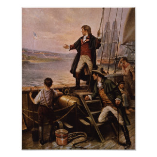 Francis Scott Key - Star Spangled Banner Painting Poster