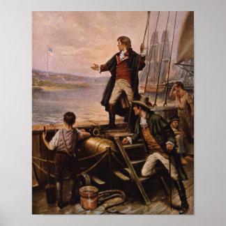 Francis Scott Key - Star Spangled Banner Painting Poster